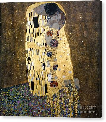 Klimt: The Kiss, 1907-08 Canvas Print by Granger