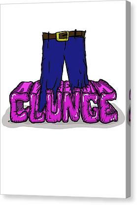 Knee Deep In The Clunge - The Inbetweeners Canvas Print by Paul Telling