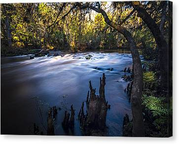Knees In The Rapids Canvas Print by Marvin Spates