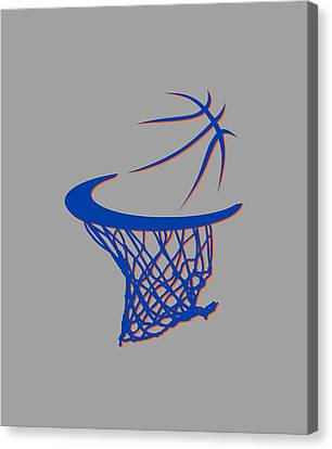 Knicks Basketball Hoop Canvas Print by Joe Hamilton