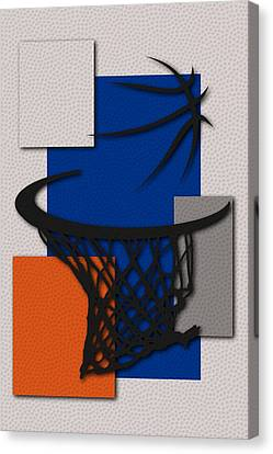Knicks Hoop Canvas Print by Joe Hamilton