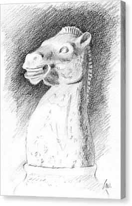Knight Chess Piece Canvas Print by Joe Winkler
