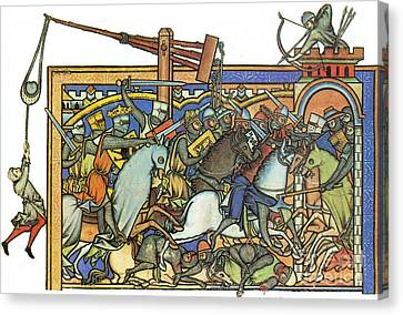 Knights Templar 13th Century Canvas Print by Photo Researchers
