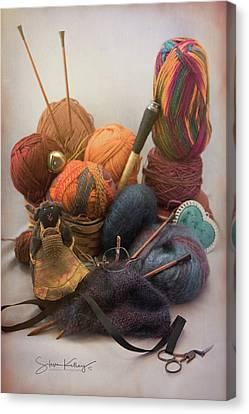 Knit Kit Canvas Print by Steve Kelley