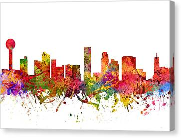 Knoxville Cityscape 08 Canvas Print by Aged Pixel