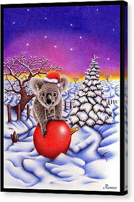 Koala On Ball Canvas Print by Remrov
