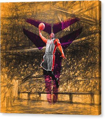 Kobe Bryant Black Mamba Digital Painting Canvas Print by David Haskett