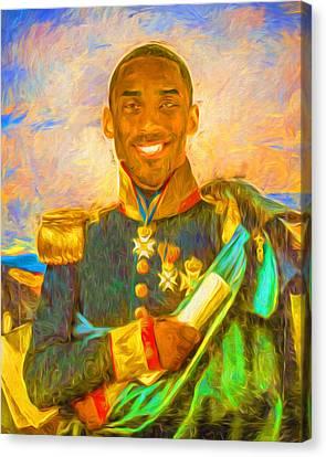 Kobe Bryant Floor General Digital Painting La Lakers Canvas Print by David Haskett