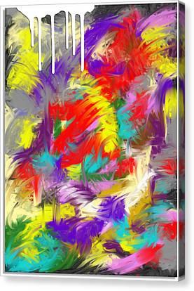 Koi Fish Canvas Print by Snake Jagger
