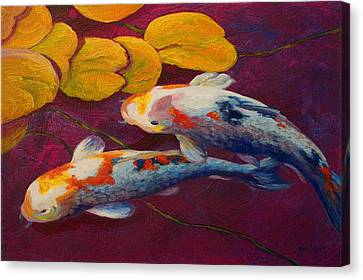 Koi Pond II Canvas Print by Marion Rose