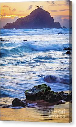 Koki Beach Sunrise #4 Canvas Print by Inge Johnsson