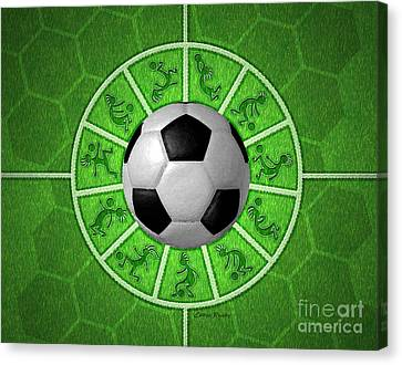 Kokopelli Soccer Canvas Print by Chris Rhynas