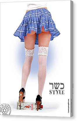 Kosher Style Canvas Print by Pin Up  TLV