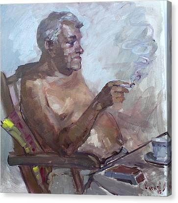 Kostas Canvas Print by Ylli Haruni