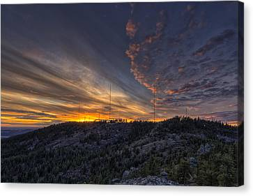 Krell Hill Sunset Canvas Print by Mark Kiver
