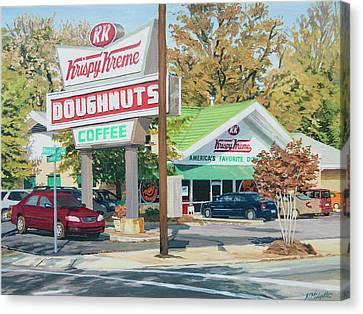 Krispy Kreme At Daytime Canvas Print by Tommy Midyette