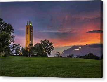 Ku Campanile Canvas Print by Thomas Zimmerman