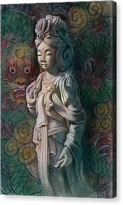 Kuan Yin Dragon Canvas Print by Sue Halstenberg