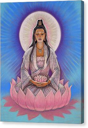 Kuan Yin Canvas Print by Sue Halstenberg