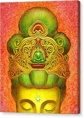 Kuan Yin's Buddha Crown Canvas Print by Sue Halstenberg