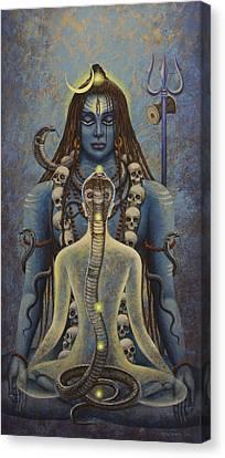 Kundalini Shakti Canvas Print by Vrindavan Das