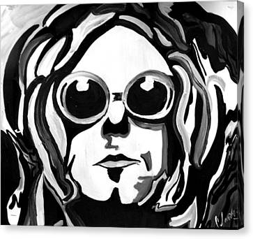 Kurt Cobain Canvas Print by Cat Jackson