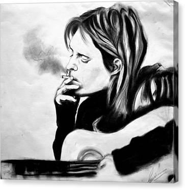 Kurt Donald Cobain Canvas Print by Chetan  Raj Pandey