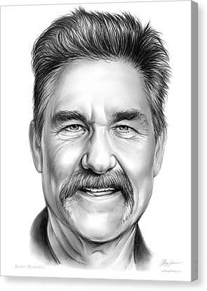 Kurt Russell Canvas Print by Greg Joens