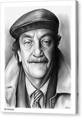 Kurt Vonnegut Canvas Print by Greg Joens