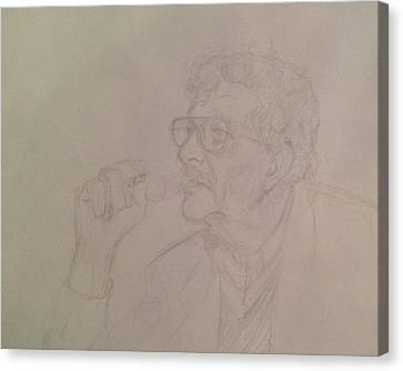 Kurt Vonnegut Canvas Print by John Bichler