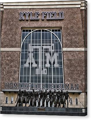 Kyle Field - Home Of The 12th Man Canvas Print by Stephen Stookey