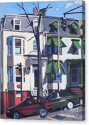 L And Broadway Canvas Print by Deb Putnam