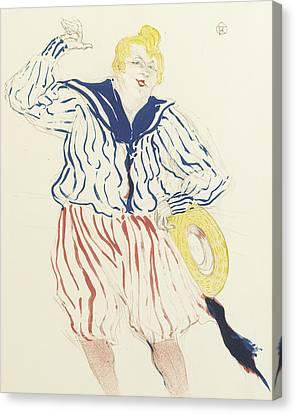 La Chanson Du Matelot, Au Star, Le Havre Canvas Print by Henri de Toulouse-Lautrec