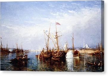 La Corne D'or, Constantinople Canvas Print by Felix Ziem