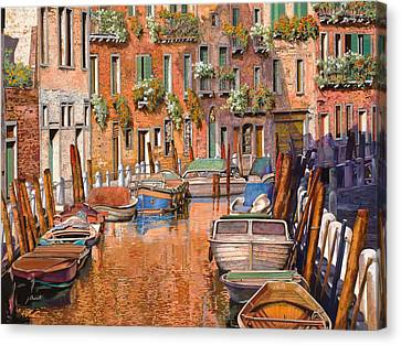 La Curva Sul Canale Canvas Print by Guido Borelli