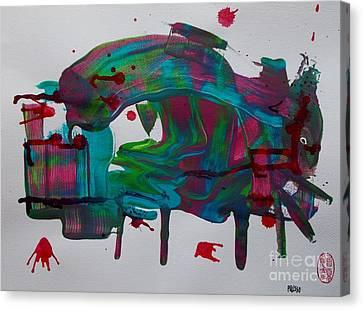 La Muerte En La Plaza De Toros Canvas Print by Roberto Prusso