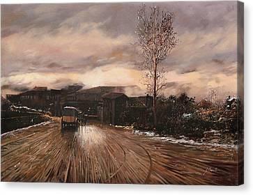 La Diligenza Canvas Print by Guido Borelli