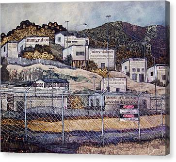 La Frontera Canvas Print by Candy Mayer