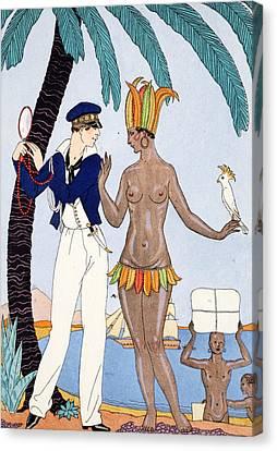 La Jolie Insulaire Canvas Print by Georges Barbier