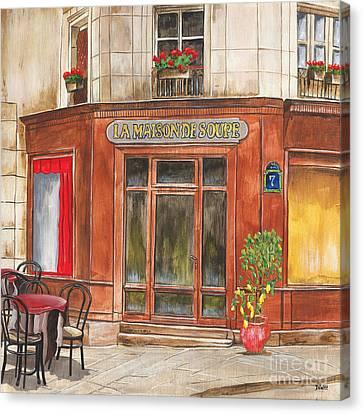La Maison De Soupe Canvas Print by Debbie DeWitt