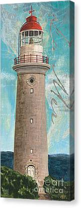 La Mer Lighthouse Canvas Print by Debbie DeWitt
