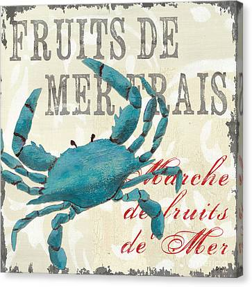 La Mer Shellfish 1 Canvas Print by Debbie DeWitt