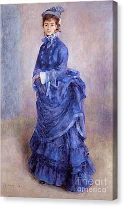 La Parisienne The Blue Lady  Canvas Print by Pierre Auguste Renoir