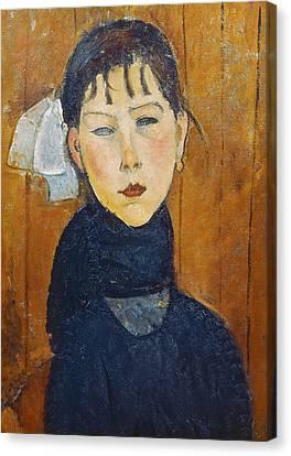 La Petite Marie Canvas Print by Amedeo Modigliani