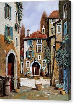 La Piazzetta Canvas Print by Guido Borelli