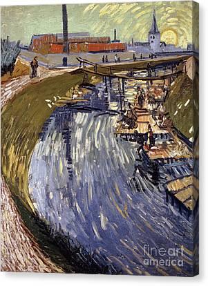 La Roubine Du Roi, 1888  Canvas Print by Vincent Van Gogh