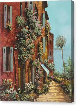 La Strada Verso Il Lago Canvas Print by Guido Borelli