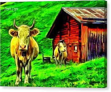 La Vaca - Da Canvas Print by Leonardo Digenio