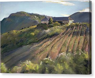 La Vierge Winery Canvas Print by Christopher Reid