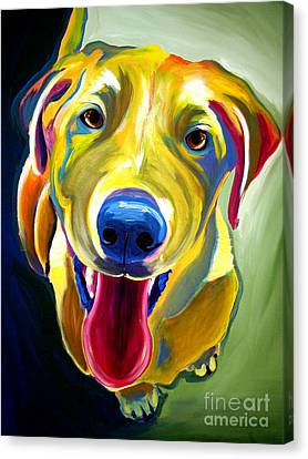 Lab - Spencer Canvas Print by Alicia VanNoy Call